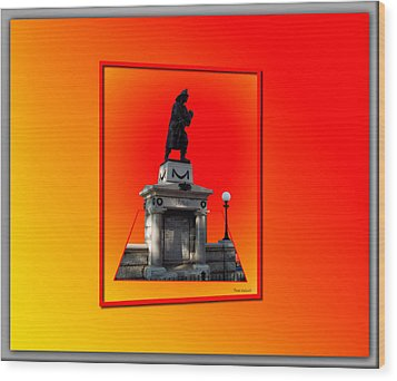 1898 Firemen Memorial Wood Print by Thomas Woolworth