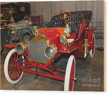 1908 Ford Model T Touring 5d25558 Wood Print by Wingsdomain Art and Photography