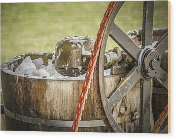 1920's Ice Cream Maker Wood Print by Bradley Clay