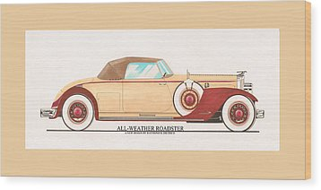 1932 Packard All Weather Roadster By Dietrich Concept Wood Print by Jack Pumphrey
