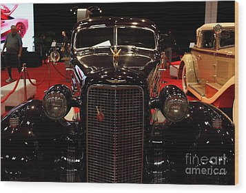 1934 Cadillac V16 Aero Coupe - 5d19875 Wood Print by Wingsdomain Art and Photography