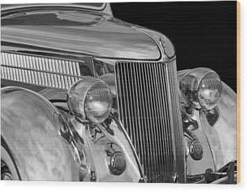 1936 Ford - Stainless Steel Body Wood Print by Jill Reger