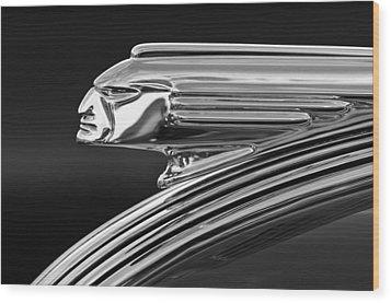 1939 Pontiac Silver Streak Hood Ornament 3 Wood Print by Jill Reger