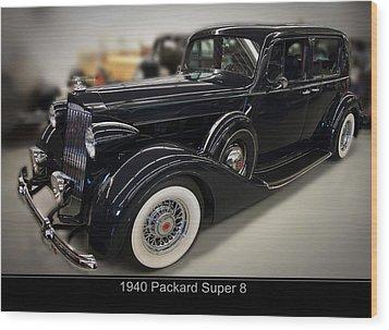 1940 Packard Super 8 Wood Print by Chris Flees