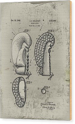 1948 Boxing Glove Patent Wood Print by Digital Reproductions