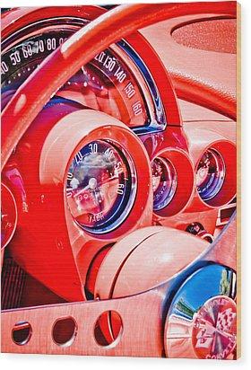 1950s Corvette Wood Print by Phil 'motography' Clark