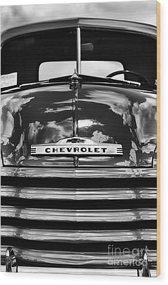 1951 Chevrolet Pickup Monochrome Wood Print by Tim Gainey