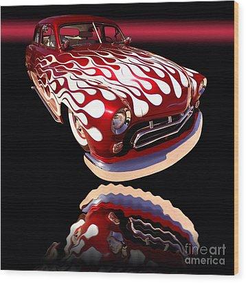 1951 Mercury Sedan Wood Print by Jim Carrell