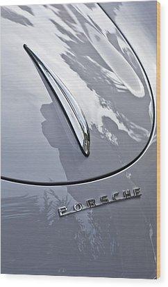 1952 Porsche Hood Ornament Wood Print by Jill Reger