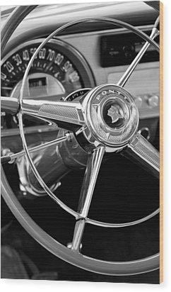 1953 Pontiac Steering Wheel 2 Wood Print by Jill Reger