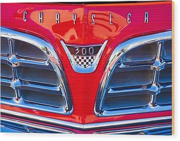 1955 Chrysler C-300 Grille Emblem Wood Print by Jill Reger