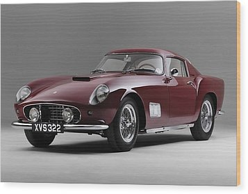 1956 Ferrari Gt 250 Tour De France Wood Print by Gianfranco Weiss