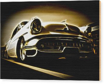 1957 Oldsmobile 88 Wood Print by Phil 'motography' Clark