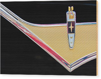 1959 Desoto Adventurer Emblem Wood Print by Jill Reger