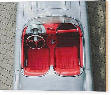1960 Chevrolet Corvette Interior Wood Print by Jill Reger