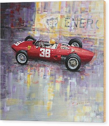 1962 Ricardo Rodriguez Ferrari 156 Wood Print by Yuriy Shevchuk