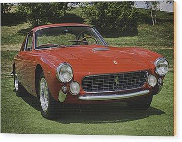 1963 Ferrari 250 Gt Lusso Wood Print by Sebastian Musial