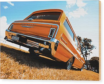 1964 Chevrolet Biscayne Wood Print by motography aka Phil Clark