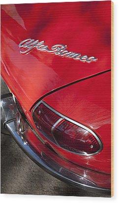 1969 Alfa Romeo 1750 Spider Taillight Emblem Wood Print by Jill Reger