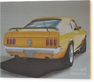1970 Mustang Fastback Wood Print by Paul Kuras