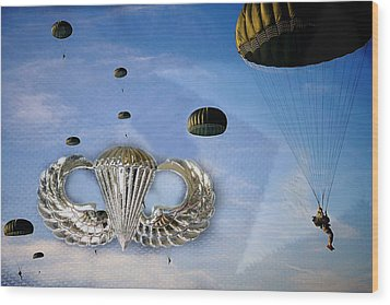 Airborne Wood Print by JC Findley