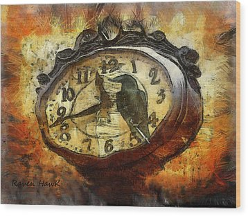 Almost Time Wood Print by The Feathered Lady