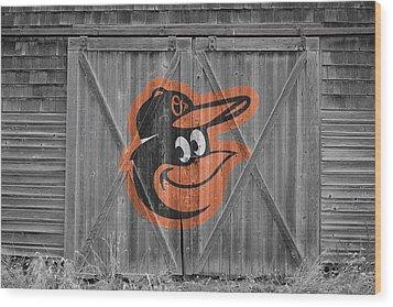 Baltimore Orioles Wood Print by Joe Hamilton