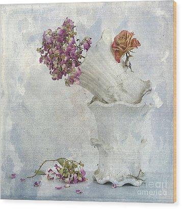 Bouquet Wood Print by Bernard Jaubert
