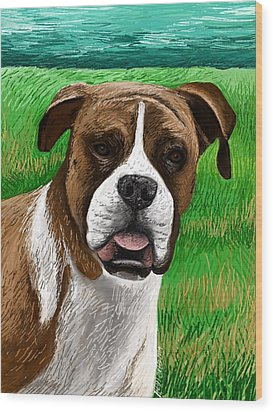 Boxer Wood Print by Heidi Creed