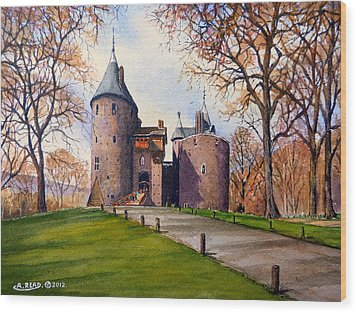 Castell Coch  Wood Print by Andrew Read