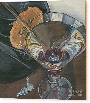 Chocolate Martini Wood Print by Debbie DeWitt