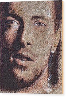 Chris Martin - Coldplay Wood Print by Daliana Pacuraru