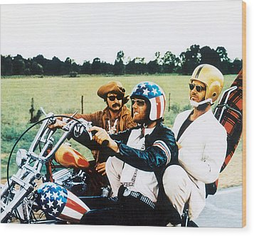 Easy Rider  Wood Print by Silver Screen