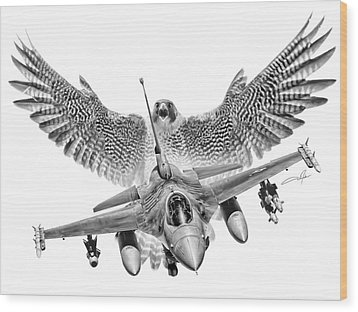 F-16 Fighting Falcon Wood Print by Dale Jackson
