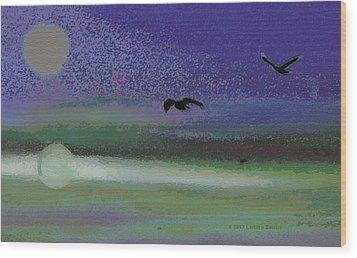 Flight Wood Print by Lenore Senior