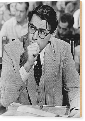 Gregory Peck In To Kill A Mockingbird  Wood Print by Silver Screen