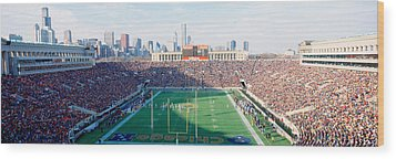 High Angle View Of Spectators Wood Print by Panoramic Images