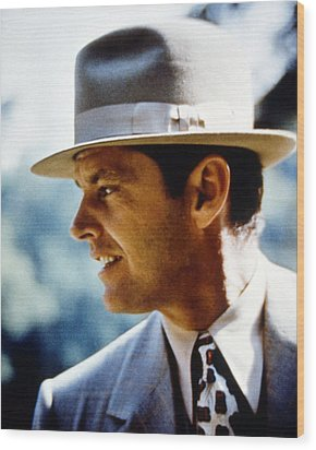 Jack Nicholson In Chinatown  Wood Print by Silver Screen