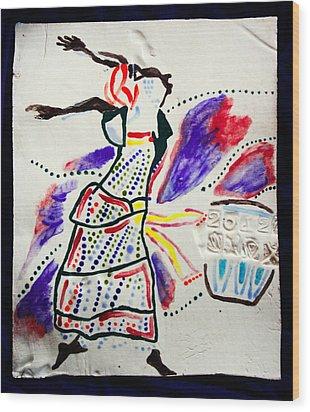 Kiganda Dance - Uganda Wood Print by Gloria Ssali