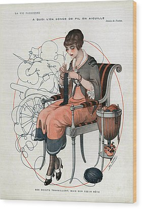 La Vie Parisienne  1916 1910s France Cc Wood Print by The Advertising Archives