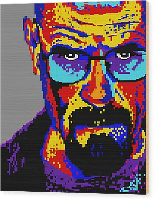 Lego Walter White  Wood Print by Marc Orphanos
