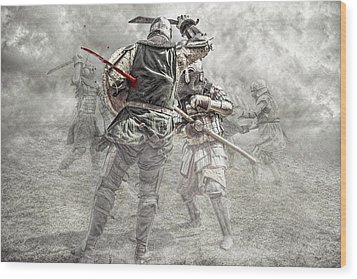 Medieval Battle Wood Print by Jaroslaw Grudzinski