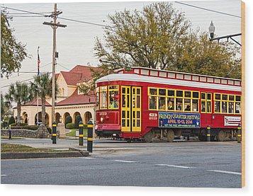 New Orleans Streetcar Wood Print by Steve Harrington