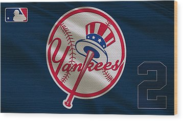 New York Yankees Derek Jeter Wood Print by Joe Hamilton