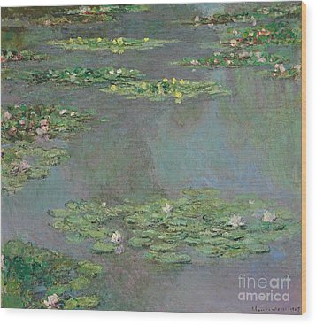 Nympheas Wood Print by Claude Monet