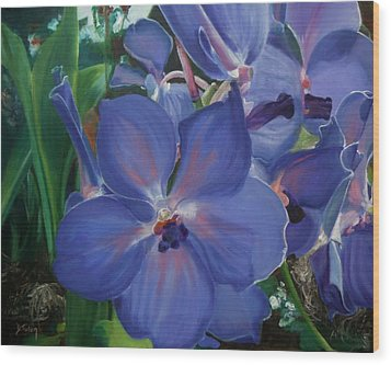 Orchids Wood Print by Donna Tuten