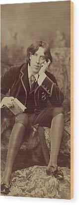 Oscar Wilde 1882 Wood Print by Napoleon Sarony