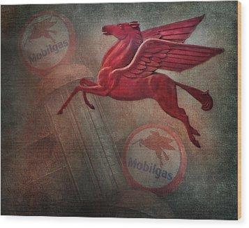 Pegasus Wood Print by David and Carol Kelly