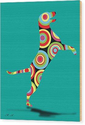 Pointer Wood Print by Mark Ashkenazi