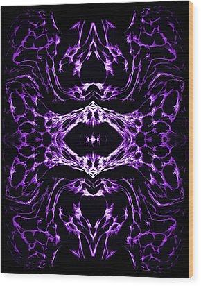 Purple Series 3 Wood Print by J D Owen